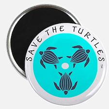 Save the Turtles Blue Logo Magnet