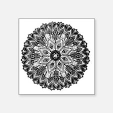 "Mandala -BW Square Sticker 3"" x 3"""