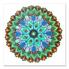 "Mandala -Color Square Car Magnet 3"" x 3"""