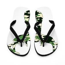 camo buck Flip Flops