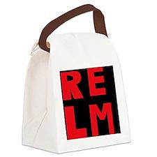 relm block letters Canvas Lunch Bag