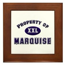 Property of marquise Framed Tile
