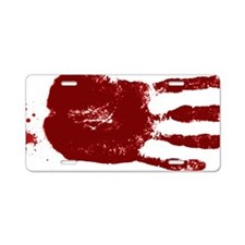 Handprint Aluminum License Plate