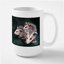opossum 3 Ceramic Mugs