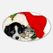 merry_christmas_1-2 Sticker (Oval)
