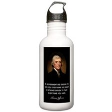 Jefferson-Quote--A-gov Water Bottle