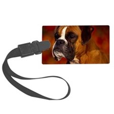 Boxer red note Luggage Tag