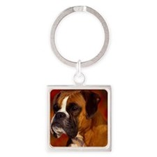 Boxer red note Square Keychain