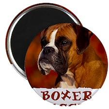 Boxer red shirt2 Magnet