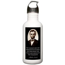Lincoln--You-cannout-h Water Bottle