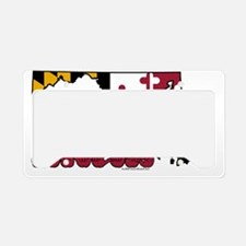 MDstateFlagILY License Plate Holder