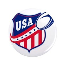"""merican rugby ball shield usa 3.5"""" Button"""