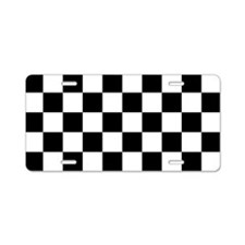Checkerboard Aluminum License Plate