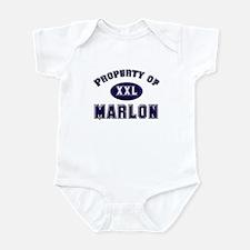 Property of marlon Infant Bodysuit
