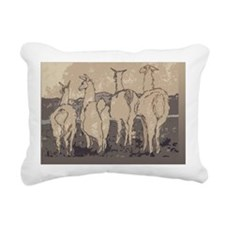 llamas 4 11-24-10 2nd re Rectangular Canvas Pillow