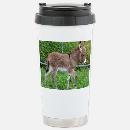 Miniature Donkey Foal Stainless Steel Travel Mug