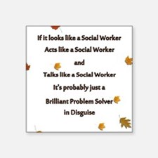 "brilliant problem solver 2 Square Sticker 3"" x 3"""