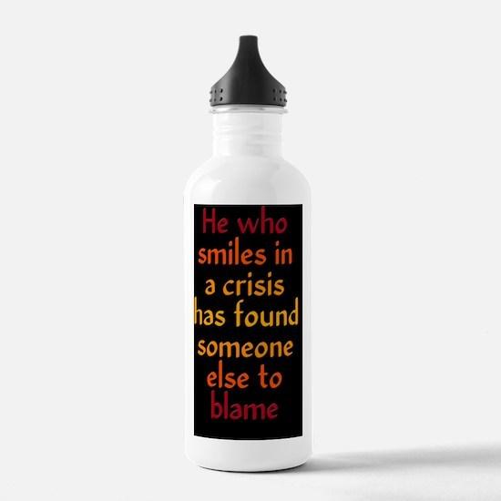 crisissmile_journal1 Water Bottle