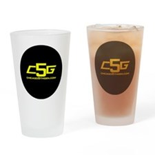 c5g logo 2 infini yr Drinking Glass