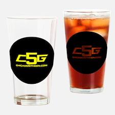 c5g logo 2 infini yr Drinking Glass