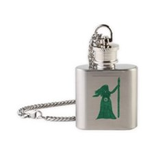 Green Goddess Flask Necklace