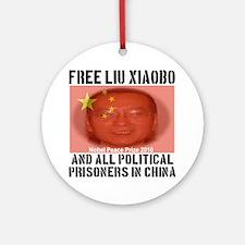 free_LiuXiaoba_political_prisoners Round Ornament