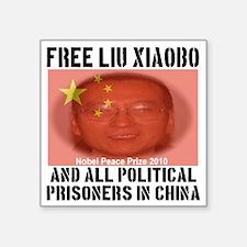"""free_LiuXiaoba_political_pr Square Sticker 3"""" x 3"""""""