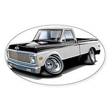 1970-72 Chevy Fleetside Black-White Decal