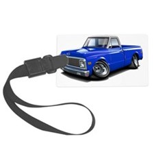 1970-72 Chevy Fleetside Blue-Whi Luggage Tag