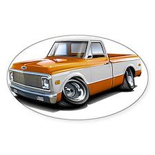 1970-72 Chevy Fleetside Orange-Whit Decal