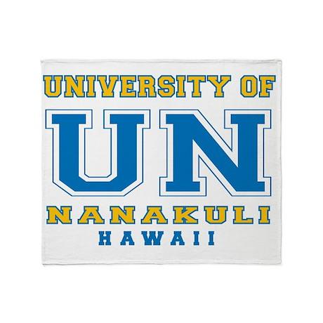 UNanakuli-10x10shirt Throw Blanket