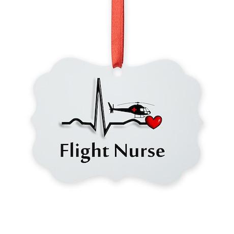 Flight Nurse QRS Picture Ornament