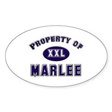 Property of marlee Oval Decal