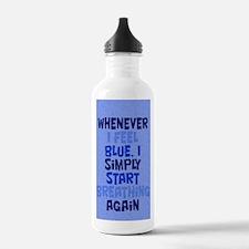 feelingblue_iphone1 Water Bottle