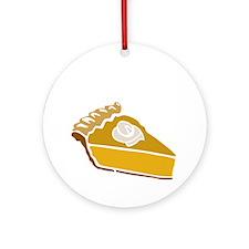 pie Round Ornament