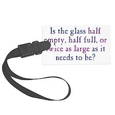 glasshalfempty1_btle Luggage Tag