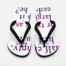 glasshalfempty1_ipad Flip Flops