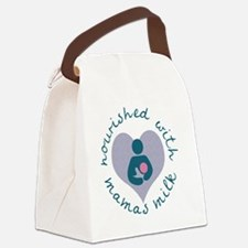 Nourished with Mamas Milk - Blue Canvas Lunch Bag