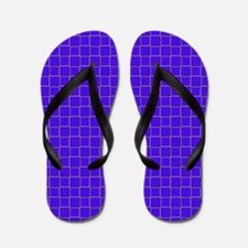 Blue Checkerboard Treasure 21 Flip Flops