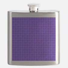 Blue Checkerboard Treasure 21 Flask
