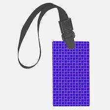 Blue Checkerboard Treasure 21 Luggage Tag