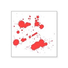 "blood Square Sticker 3"" x 3"""