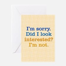 lookinterested1_journal Greeting Card