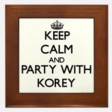 Keep Calm and Party with Korey Framed Tile