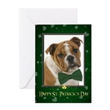 Bulldog St. Patricks Day Card