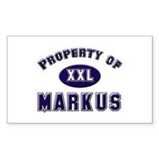 Property of markus Rectangle Decal
