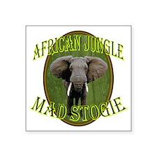 "Mad Stogie Cigar Square Sticker 3"" x 3"""
