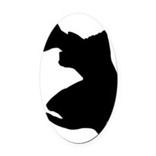 SIMPLY TROUT 4 white Oval Car Magnet