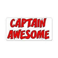 CAPTAINAWESOME Aluminum License Plate
