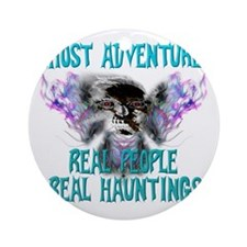 Ghost Adventures Whitewings T-Shirt Round Ornament